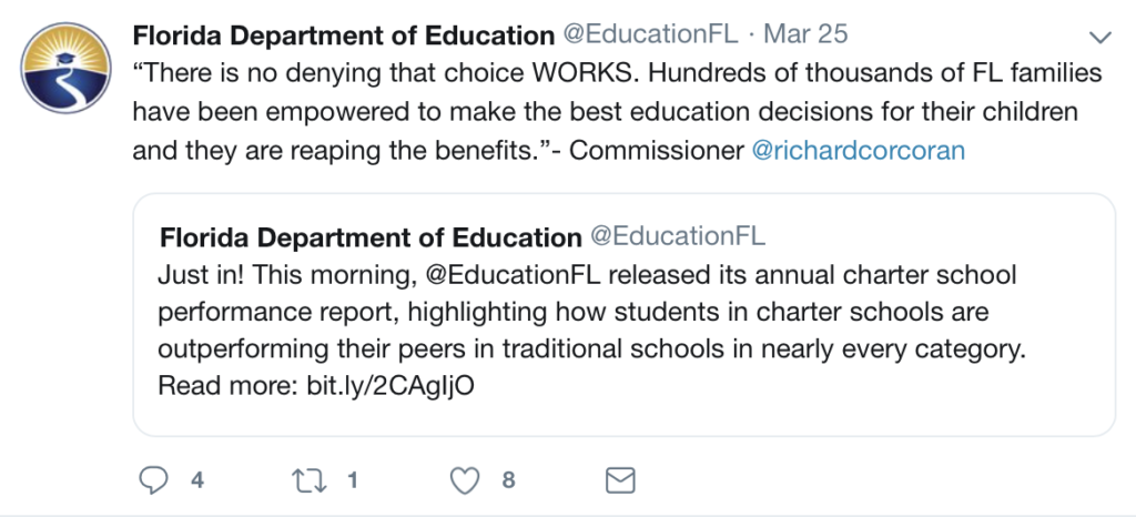"Usefulness ""Extremely Limited "" About that Florida Charter"